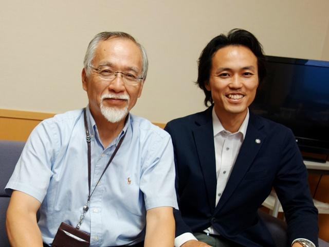 堂前院長(左)と湯原